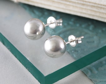 Silver Ball Studs, Simple Earrings, Classic Studs, Sterling Silver, Ball Earrings, Stud Earring, Silver Earrings, Round Earrings, 925 Silver