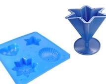 Proops Set x 2 Candle Moulds, 4 Shaped Candle Soap Mould Tray & 6 Pointed Star Candle Mould (S7601). Free UK Postage