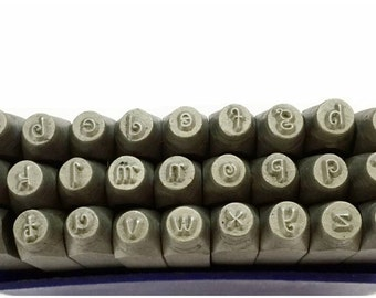 Proops Metalwork Penguin Font Letter Stamp Set, LOWERCASE, 27 Piece, 3mm. (J1380)  Free UK Postage