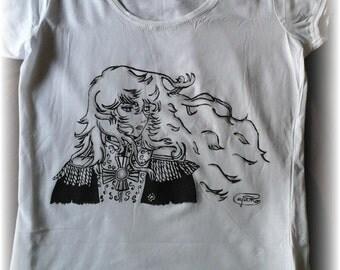 t-shirt handpainted LADY OSCAR
