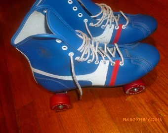 70s/80s Roller Derby Skates Official Pair Size 8 Women's Made in Phillipines