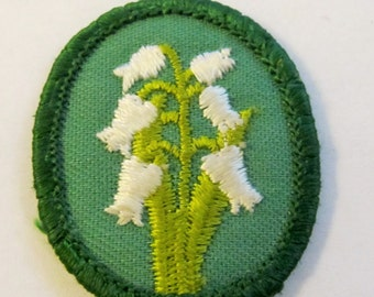 """Vintage Girl Scout Troop Crest """"Morning Glory"""" circa 1970's"""