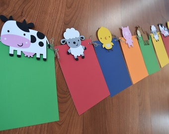 Farm Animals Month Banner, Farm/Farm Theme Party