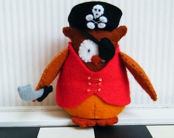 Piraatuil Jack - compleet viltpakket