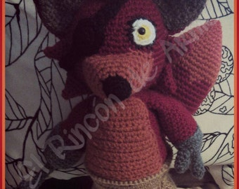 Amigurumi inspired by Foxy - Fivre Nights