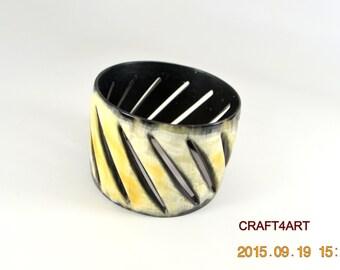 Matte Buffalo Horn Bracelet Handmade