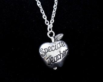 Teacher gift, Silver special teacher charm necklace, Teacher necklace, Gift for teacher