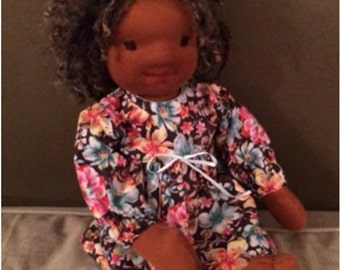 Pattern doll dress 16 to 18""
