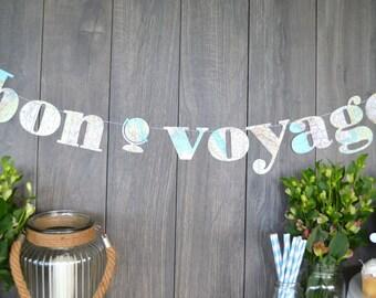 atlas garland, bon voyage garland, going-away party atlas garland, nursery decor garland, graduation vintage map garland