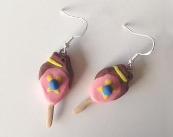 Bubble O'Bill Ice-Cream Earrings.