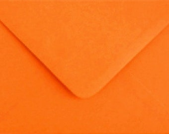 10 orange  C6 envelopes for cards and invitations / HALLOWEEN
