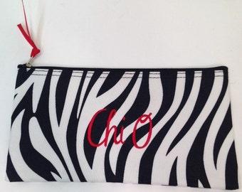 Chi O Fabric Accessory Bag