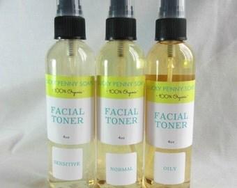 Facial Toner, Vegan Skin Toner with Lavender Essential Oil