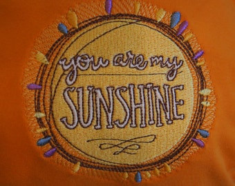 Orange and Yellow You Are My Sunshine Large G-Diaper
