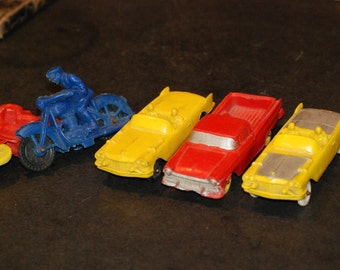 Vintage Rubber Toy Vehicle Group