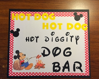 Mickey Mouse birthday sign. Mickey Mouse clubhouse party sign.