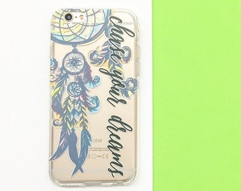 """Clear Plastic Case Cover for iPhone 6 (4.7"""") Chase Your Dreams"""