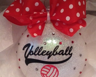 Personalized Volleyball ornament, Volleyball ornaments, Volleyball gift, Volleyball mom, Volleyball coach, Volleyball players ornament