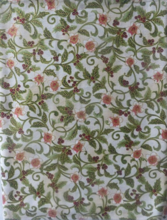 Holiday Flourishcotton Fabric Home Decor Quilt Craft