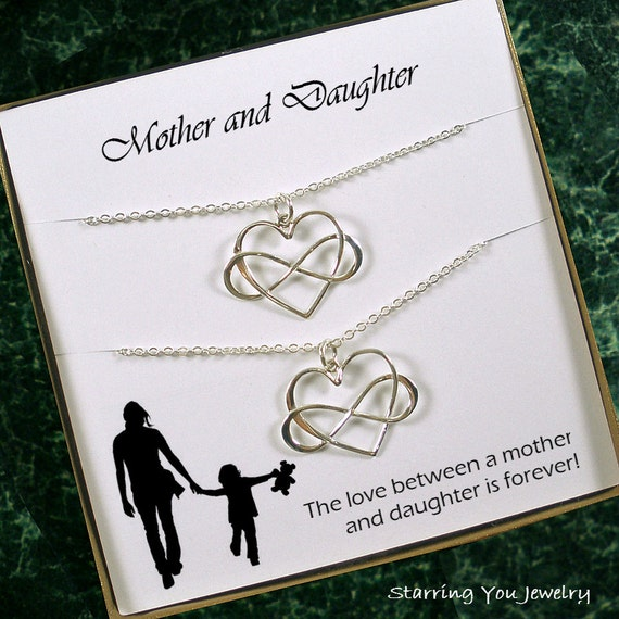 Mother Daughter Necklace Set Mom Daughter Jewelry Mother