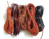 Assorted Indian Leather Cord - 2MM Round Leather Cord - Destash