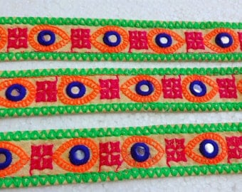 Indian Embroidered Lace / Trim - Bright Colors