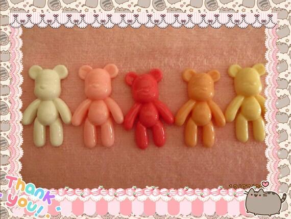 0: )- CABOCHON -( Rainbow Large Bears
