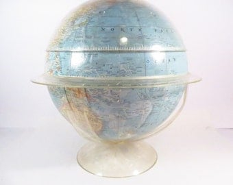 Vintage National Geographic Lucite Globe