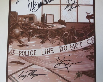 Person of Interest 2014 Comic Con S4 Original Autographed Poster