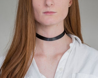 Black Choker with Adjustable Clasp