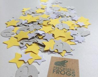 Elephants & Stars Table Confetti Yellow - Baby Shower/Christening/Birthday