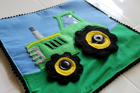 Felt Tractor Things that Go Quiet Book PATTERN from