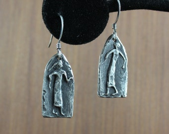 Cave Art ~ Primitive Figures ~ Tribal earrings