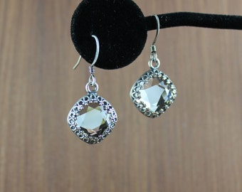 Rustic Romantic ~ Clear Crystal earrings