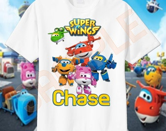 Super Wings Custom T-Shirt, PERSONALIZE with Name, Perfect Birthday Gift!