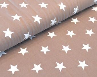 Poppy Jersey 'Stars' light brown/white