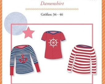 "Mialuna pattern Damenshirt ""Lady Mariella"""