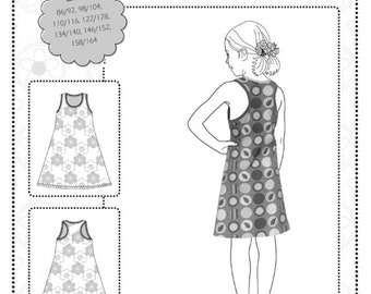 Farbenmix pattern WHITNEY girls dress summer