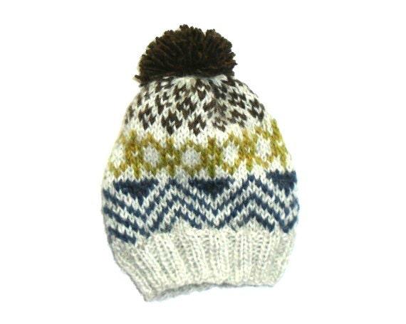 Knitting Patterns For Nordic Hats : PDF Knitting Pattern Nordic Icelandic Wool by wildhoneydesign