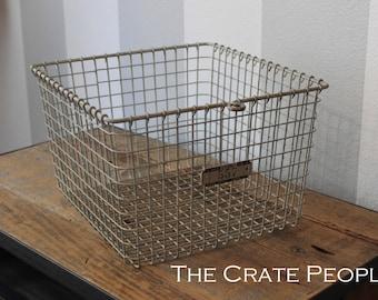 Vintage Wire Baskets with Metal Number Tag | Vintage Industrial Locker Baskets – LYON Baskets, Kasper Baskets