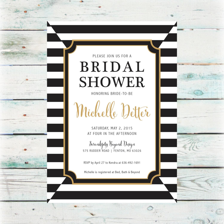 Classic bridal shower invitation diy digital file for Classic bridal shower invitations