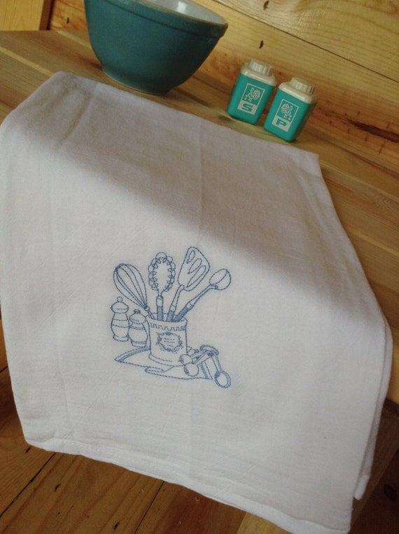 light blue kitchen towels embroidered dish towel light blue kitchen utensils 6965