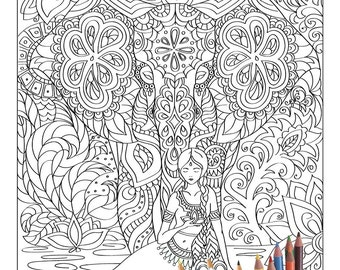 Large coloring book | Etsy
