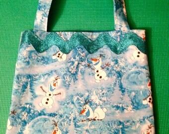 Olaf Girl's Tote, Olaf Tote Bag, Girl's Tote Bag, Frozen Tote Bag, Frozen Olaf Tote Bag, Frozen Olaf, Olaf Bag,Olaf Girl's Bag,Blue Olaf Bag
