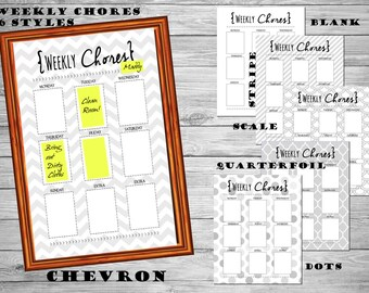 Post it NOTE Chore planner