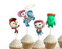 Sheriff Callie party cupcake toppers - set of 24