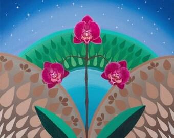 Phalaenopsis Triumvarate, fine art print, Stylized Orchids