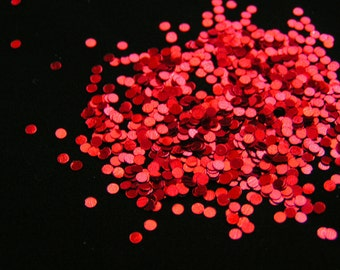 solvent-resistant glitter shapes-ruby(metallic) dots
