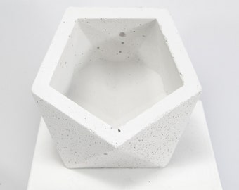 Concrete Geometric Original Medium Icosahedron vessel