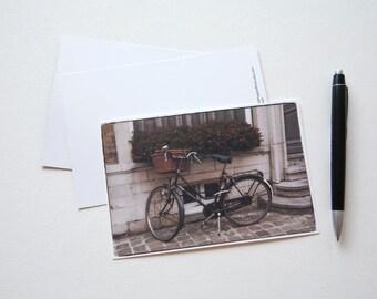 Bicycle Post Card - Bike Card - Bicycle image - European Post card - Travel postcard - Travel card - Bicycle card - Romantic card